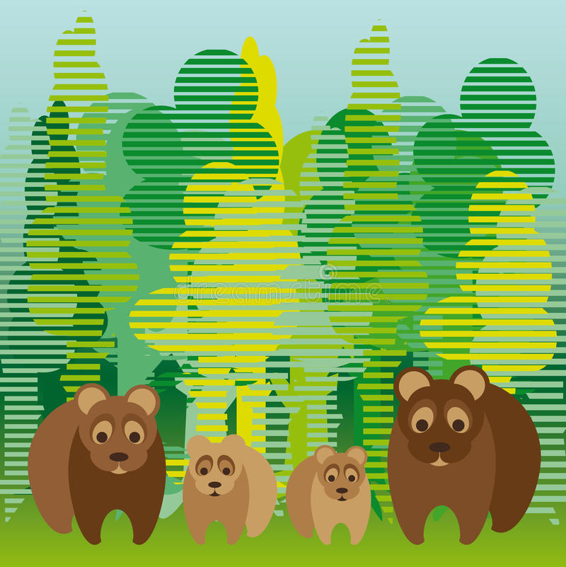 Free Cute Bear Family Royalty Free Stock Photography - 9605107