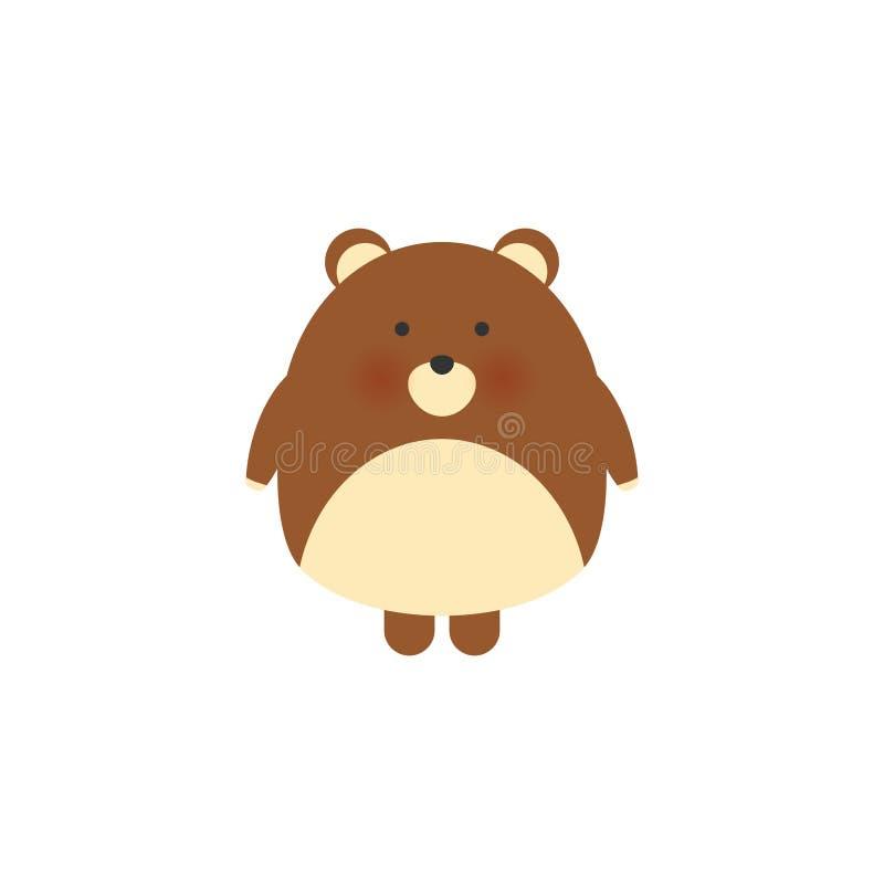 Cute bear,hand drawn vector illustration..Can be used for kids babies shirt design, fashion print design,t-shirt, kids. Wear,textile design,celebration card royalty free illustration
