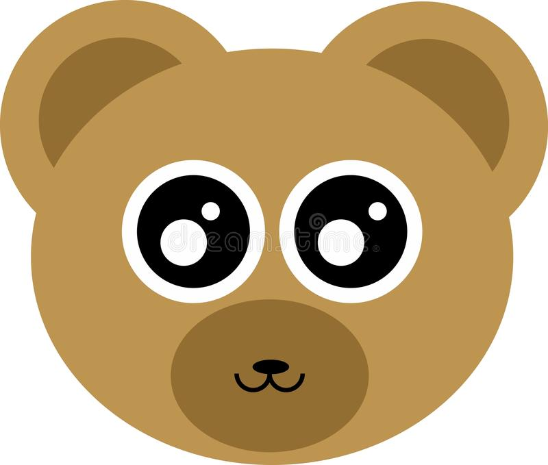 Cute Bear Head stock photo