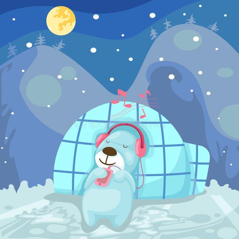 Download Cute Bear Listening Music Stock Photos - Image: 22695333