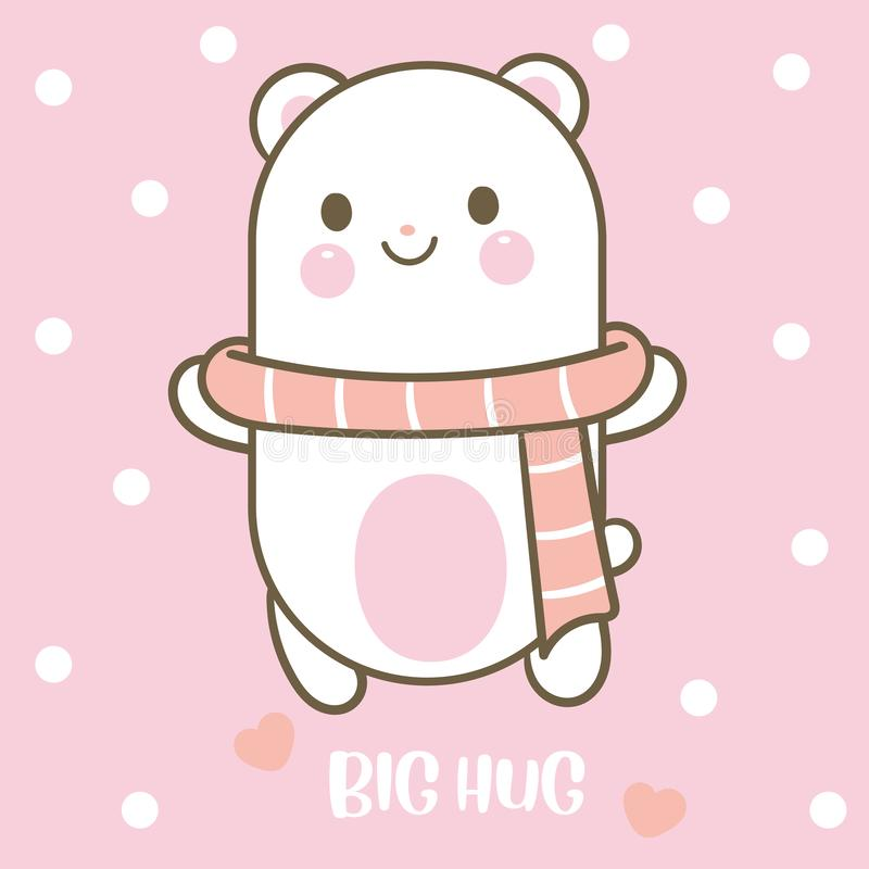 Cute Bear vector big hug stock illustration