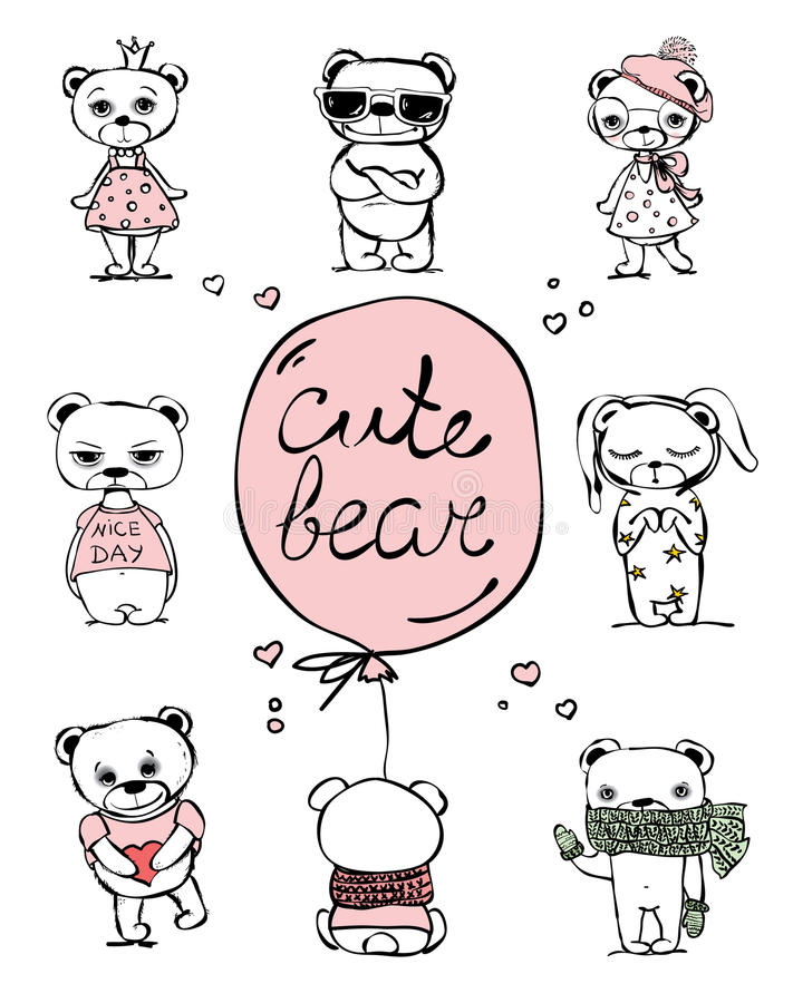 Cute bears. vector illustration