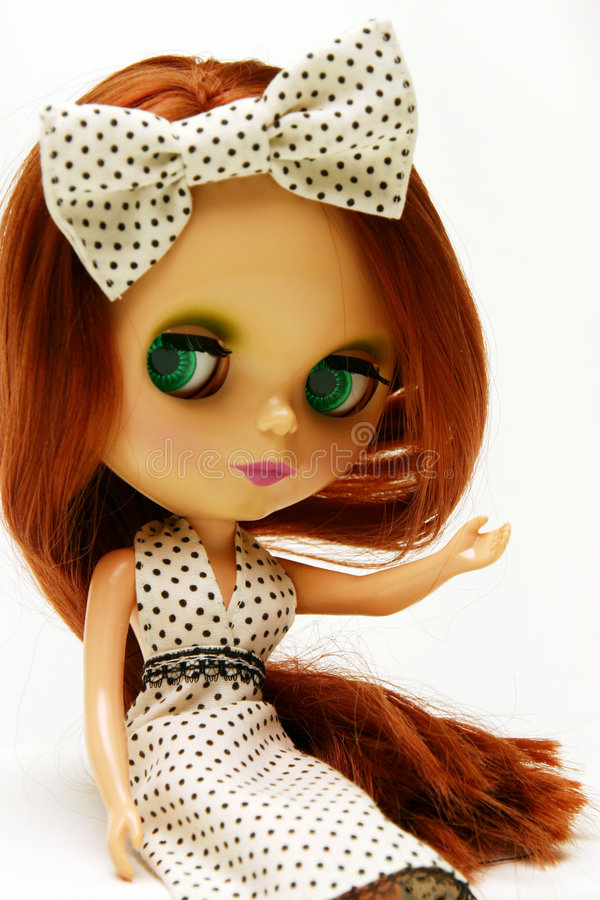 Download Cute And Beautiful Doll In Dress Stock Image - Image: 1405793