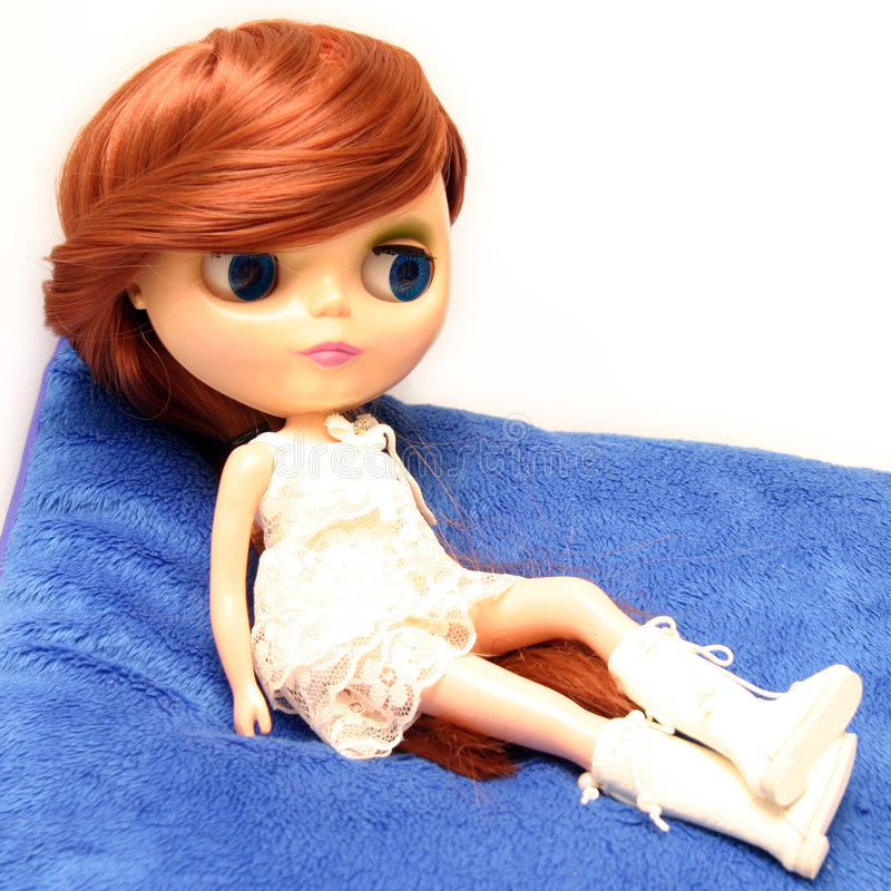 Download Cute And Beautiful Doll In Dress Stock Image - Image: 1406087