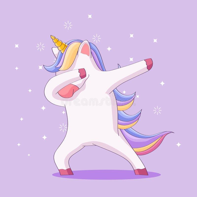 Cute cartoon llama design doing dabbing. Cute beautiful illustration llama design doing dabbing with colorful illustration royalty free illustration