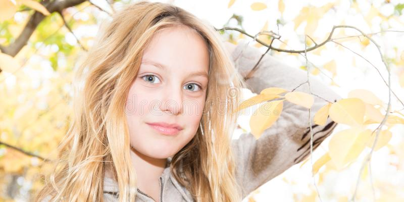 Beauty blonde girl teenagers with blue eyes stock image