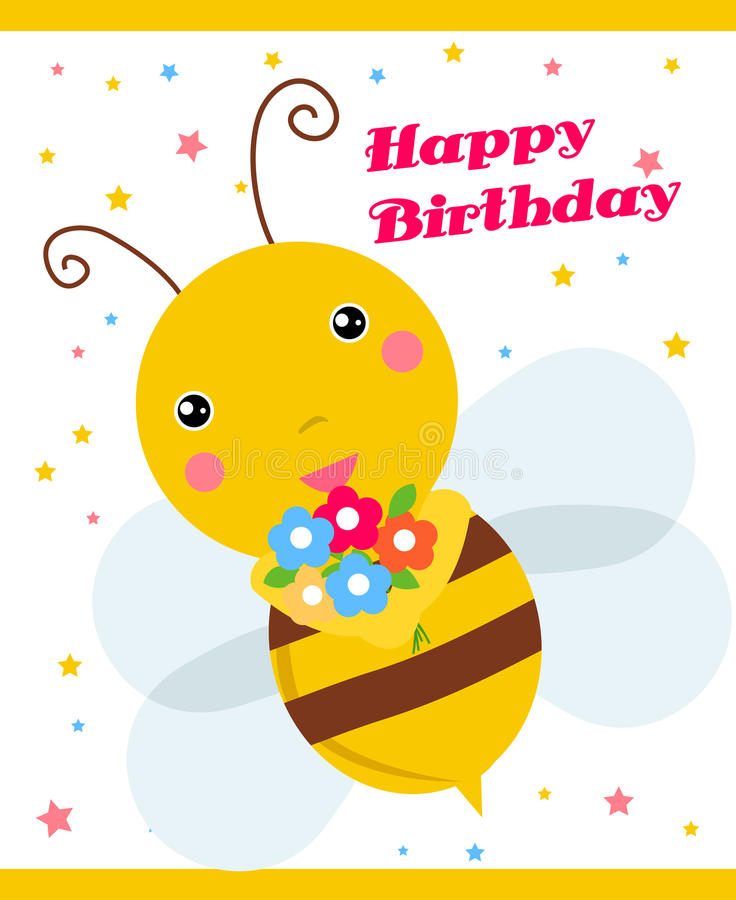 Download Cute bee stock vector. Illustration of black, character - 14368401