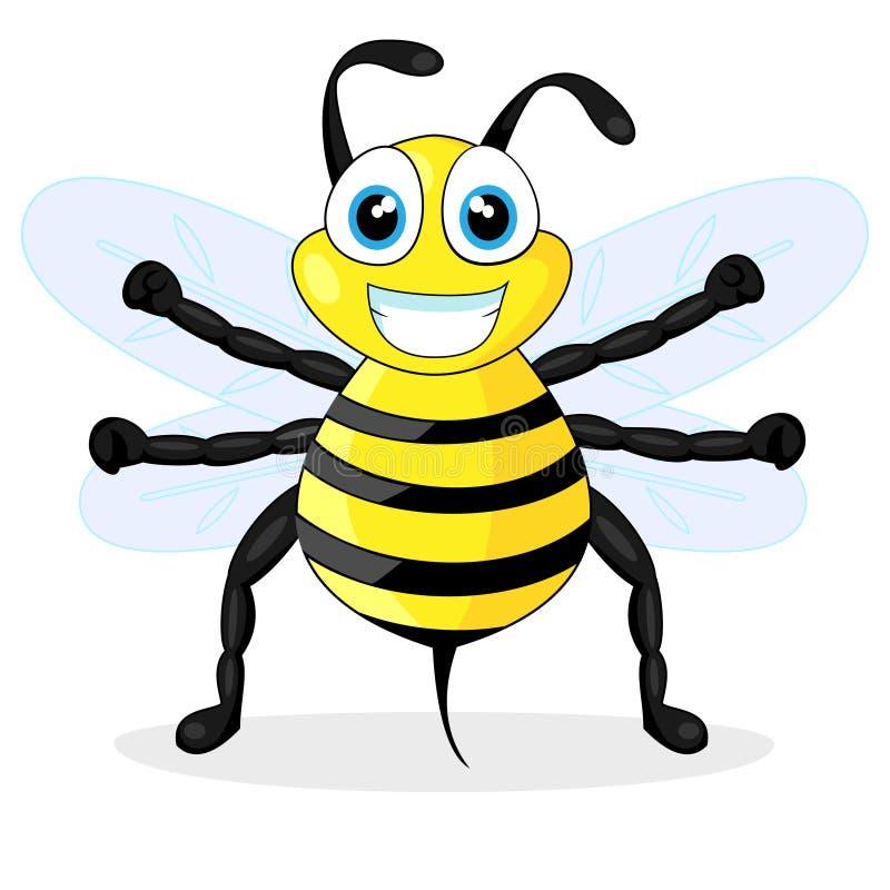 Download Cute bee stock vector. Illustration of flower, bumblebee - 17196372