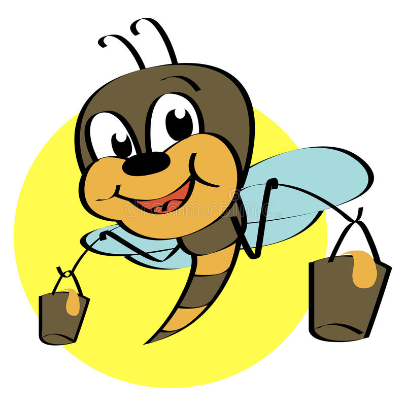 Download Cute bee stock vector. Illustration of character, clipart - 21067342