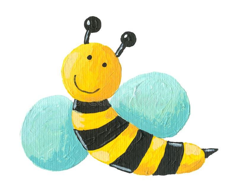 Cute bee flying stock illustration