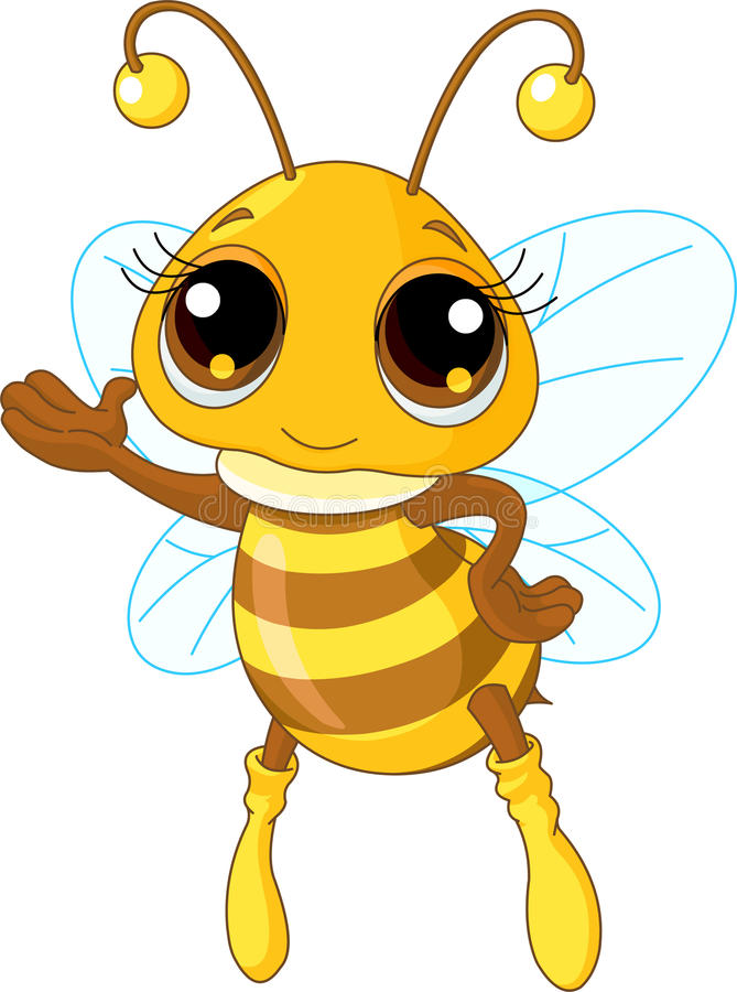 Cute Bee Showing Stock Photo