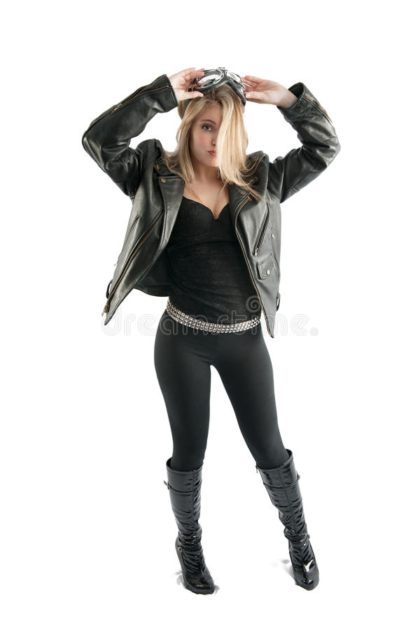Cute black leather jacket