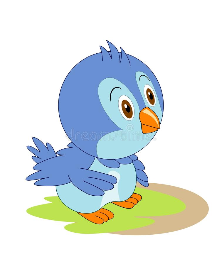 Cute bird cartoon vector illustration
