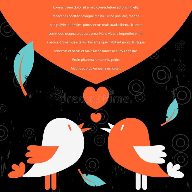 Free Cute Bird Couple Royalty Free Stock Image - 27143336