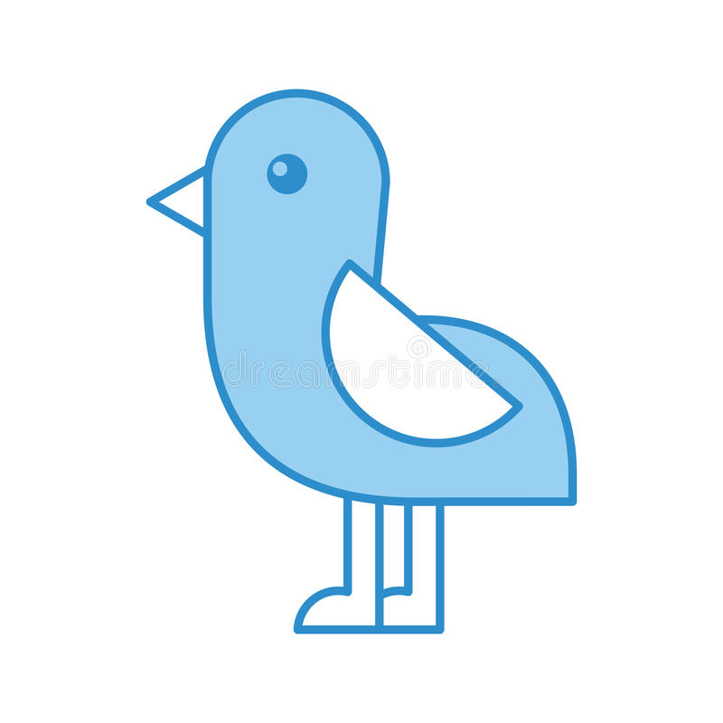 Cute bird sea icon. Vector illustration design royalty free illustration