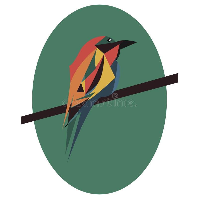 Cute bird vector cartoon illustration. Wild zoo animal icon. Adorable bird isolated on white. Forest fauna childish character. Sim royalty free illustration