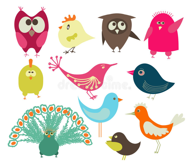 Download Cute birds stock vector. Image of figure, domestic, cute - 13085520