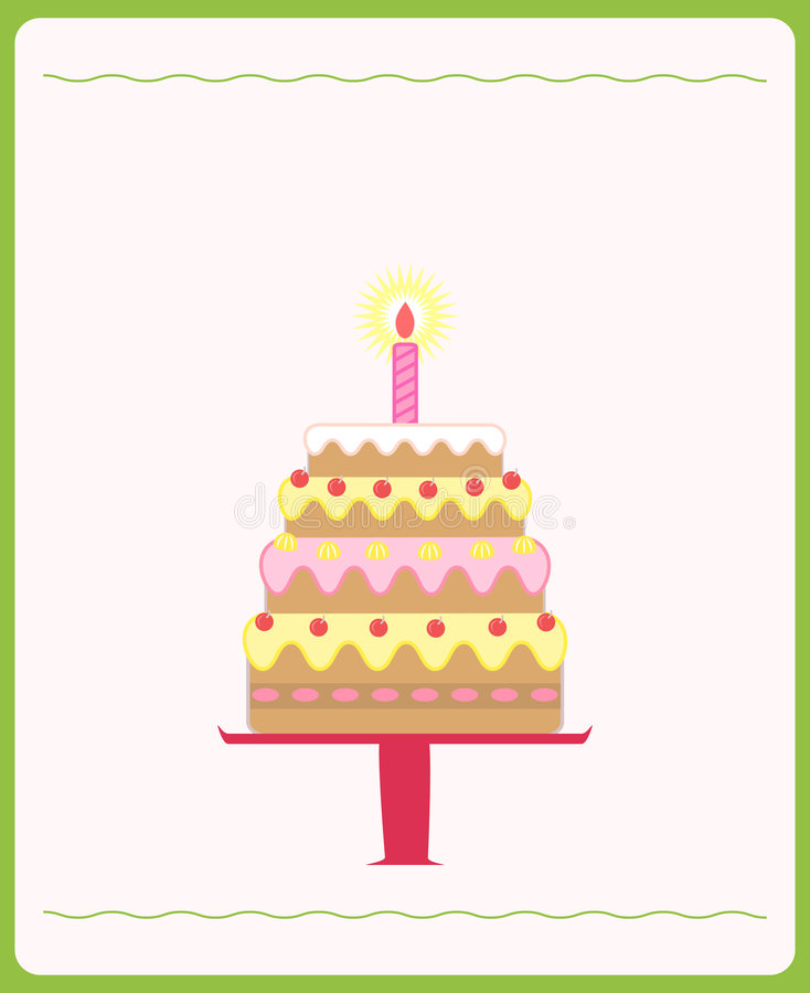 Download Cute Birthday Cake Images : Cute birthday cake stock vector. Image of celebrations ...