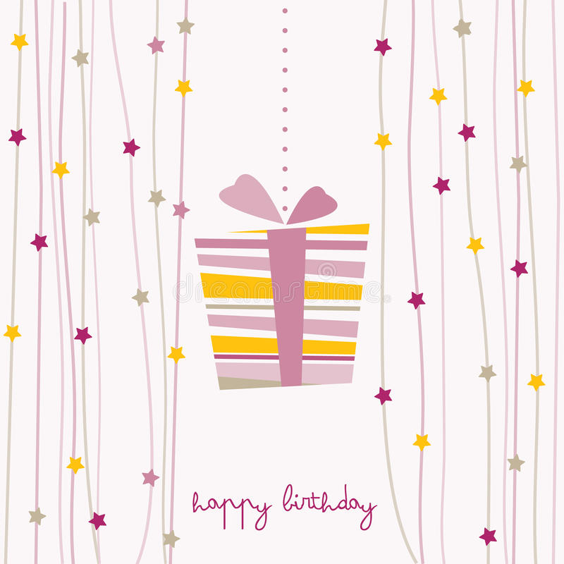 Download Cute birthday card stock vector. Illustration of event - 23762803