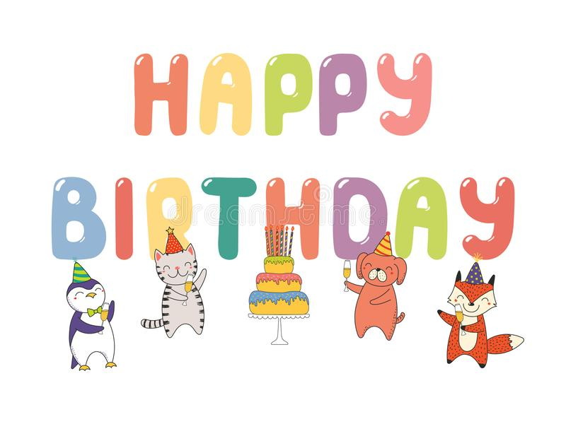 cute birthday card banner stock vector illustration of holiday
