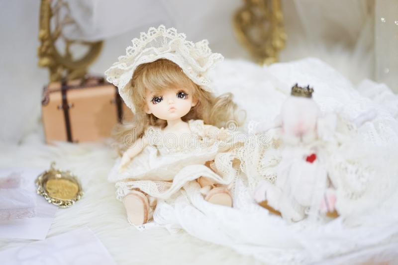 Cute BJD doll. BJD stands for Ball-Jointed-doll stock images