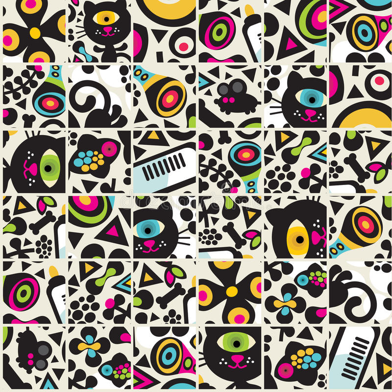 Download Cute Black Cats Seamless Pattern. Stock Photos - Image: 32886663