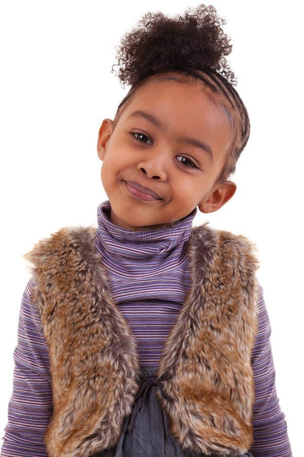 Download Cute black girl smiling stock image. Image of diversity - 18736175