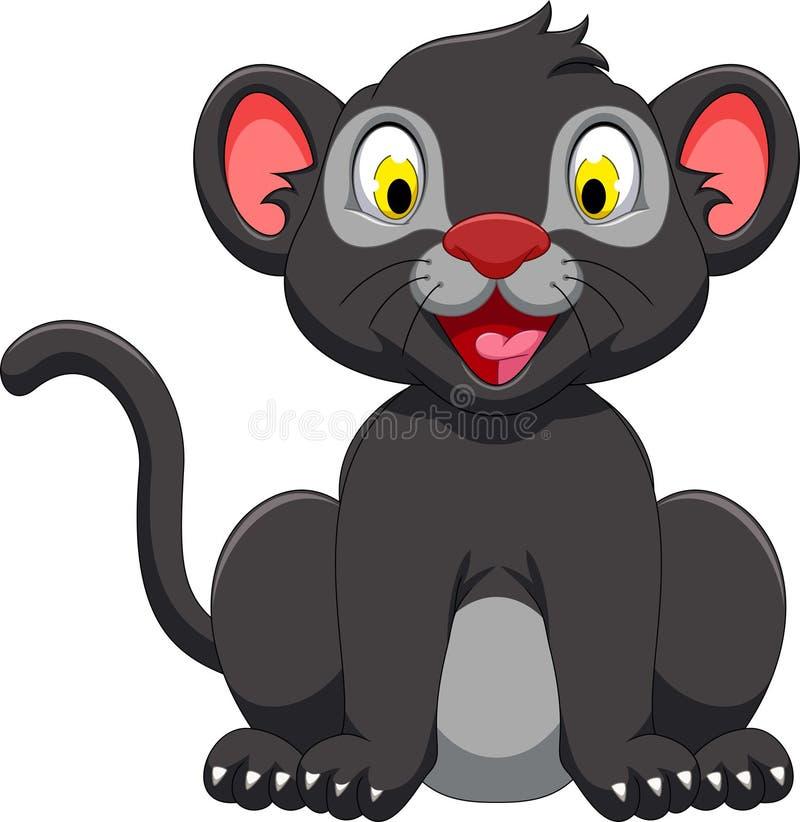 cute black panther cartoon sitting stock illustration illustration rh dreamstime com Panther Eyes Clip Art Panther NFL Outline Clip Art