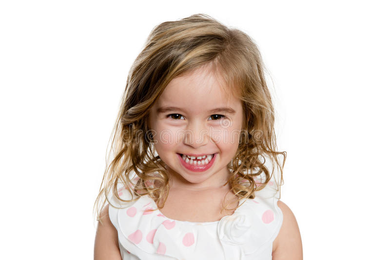 Cute Blond Girl Smiling to You Genuinely royalty free stock photos