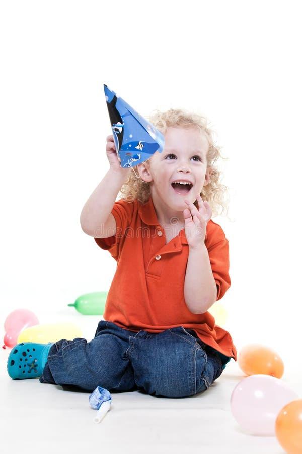 Cute little toddler boy stock photo