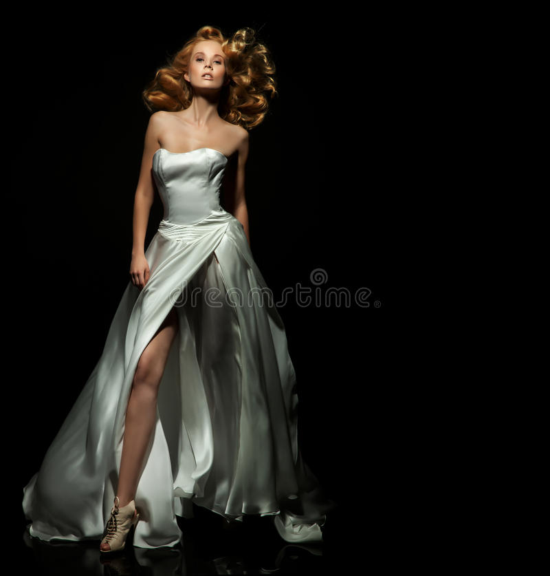 Cute blond lady stock images