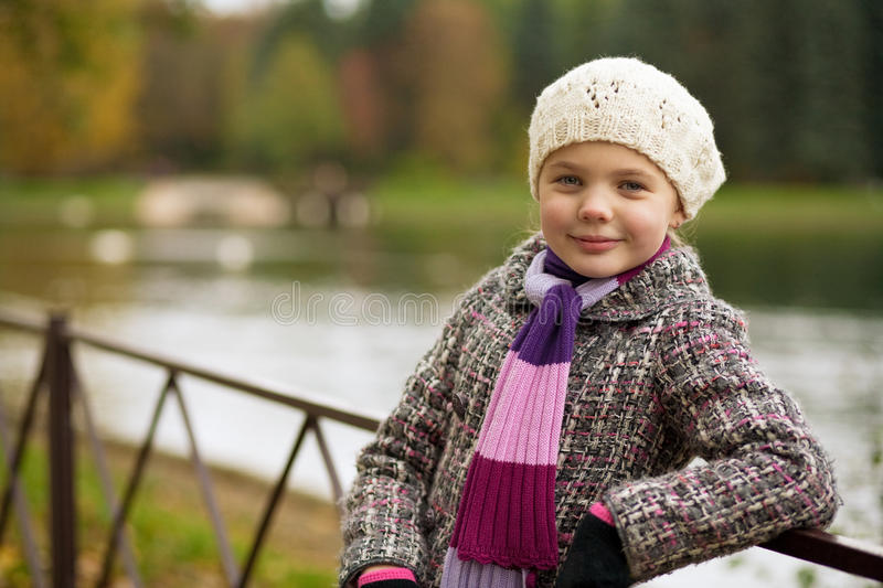 Download Cute Blonde Girl Looking Forward Smiling Stock Image - Image: 11745131