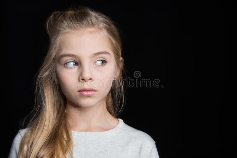 Cute blonde girl stock image