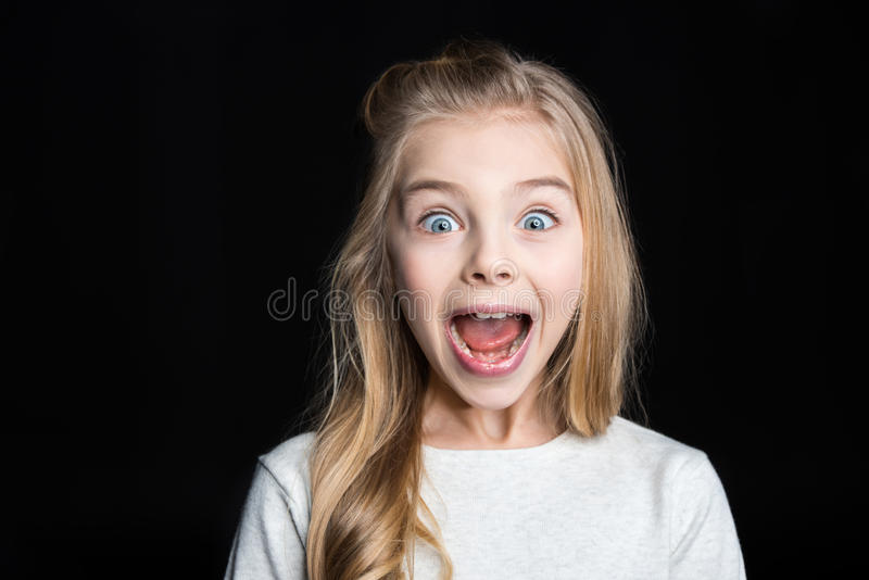 Cute blonde girl stock images