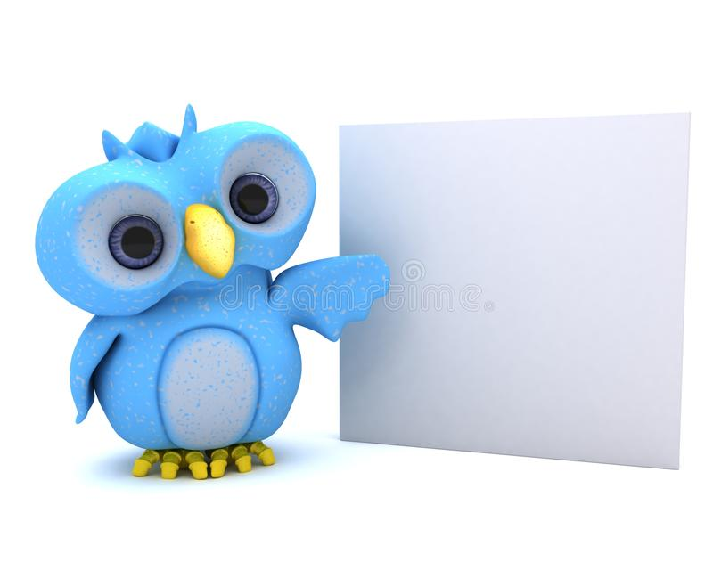 Download Cute Blue Bird Character stock illustration. Image of communication - 22713378