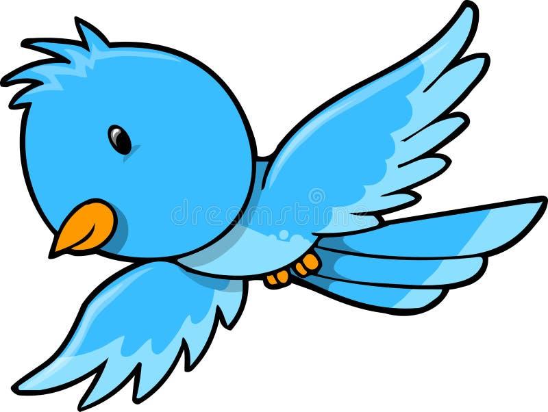 Cute Blue Bird Vector vector illustration