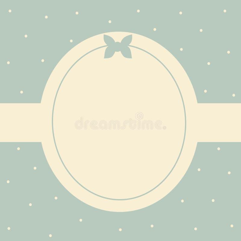 Cute blue card frame illustration background. Cute blue card frame vector illustration background vector illustration