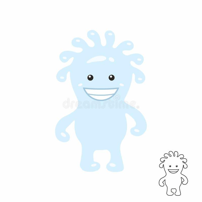 Cute Blue Cartoon Monster Stock Vector Illustration Of Face 112214248