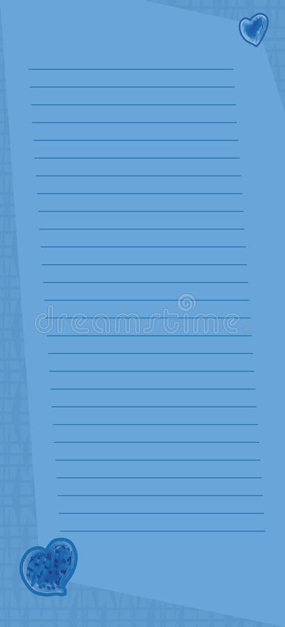 Cute Blue Memo Page Royalty Free Stock Image