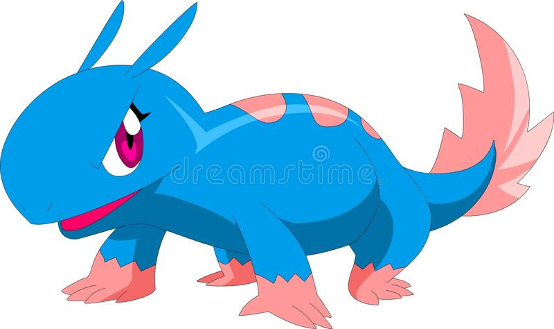 Cute blue mon vector illustration
