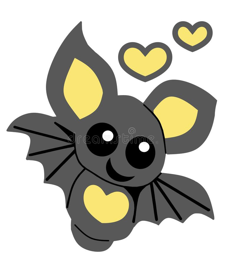 Free Cute Blue Yellow Bat On A White Or Transparent Background Stock Photos - 182060693