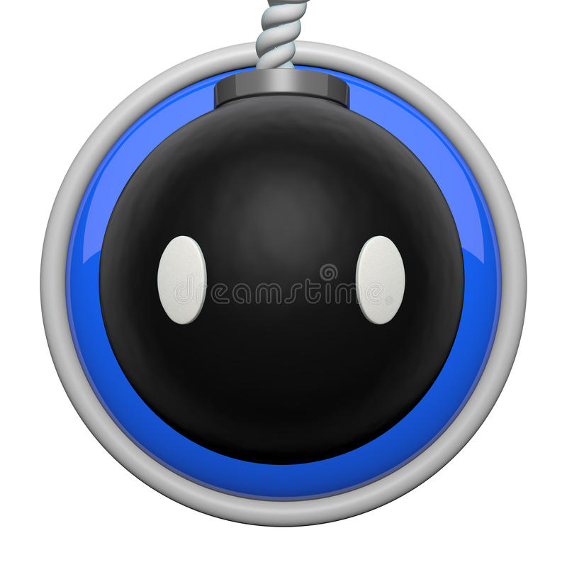 Download Cute Bomb Character Icon Stock Photo - Image: 23191280
