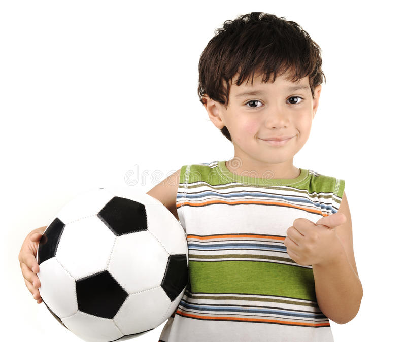 Download Cute boy with ball stock photo. Image of ball, standing - 22278116