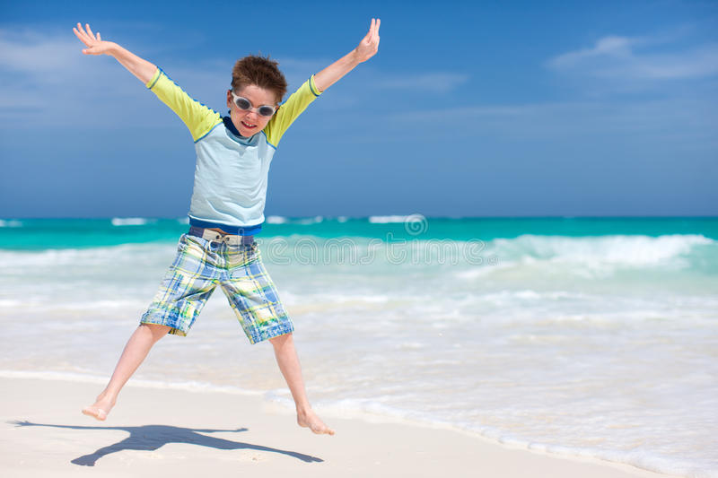 Download Cute boy at beach stock photo. Image of outdoor, white - 34023716