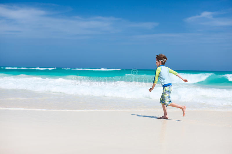 Download Cute boy at beach stock image. Image of person, sand - 34023665