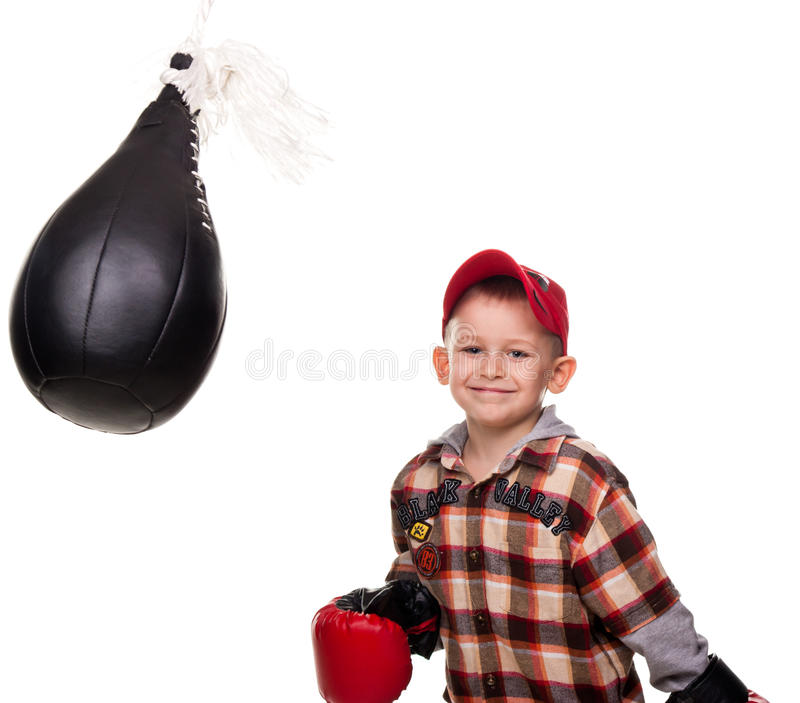 Download Cute Boy In The Boxing Gloves Royalty Free Stock Photography - Image: 19124077