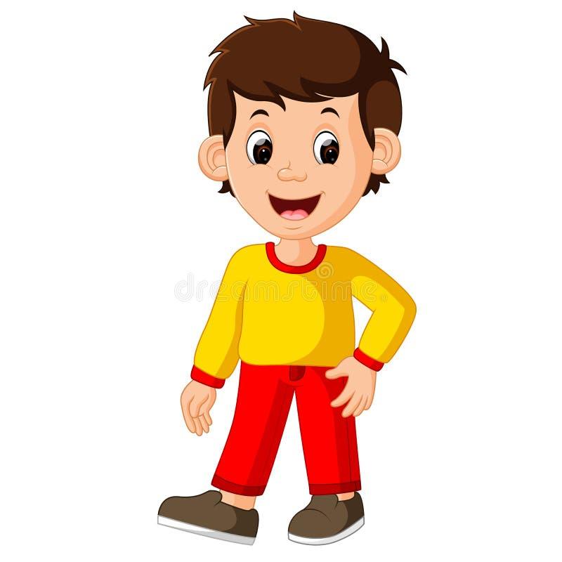 Cute boy. Cartoon good posing vector illustration