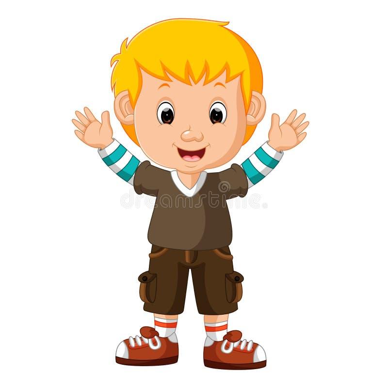Cute boy cartoon. Illustration of cute boy cartoon royalty free illustration