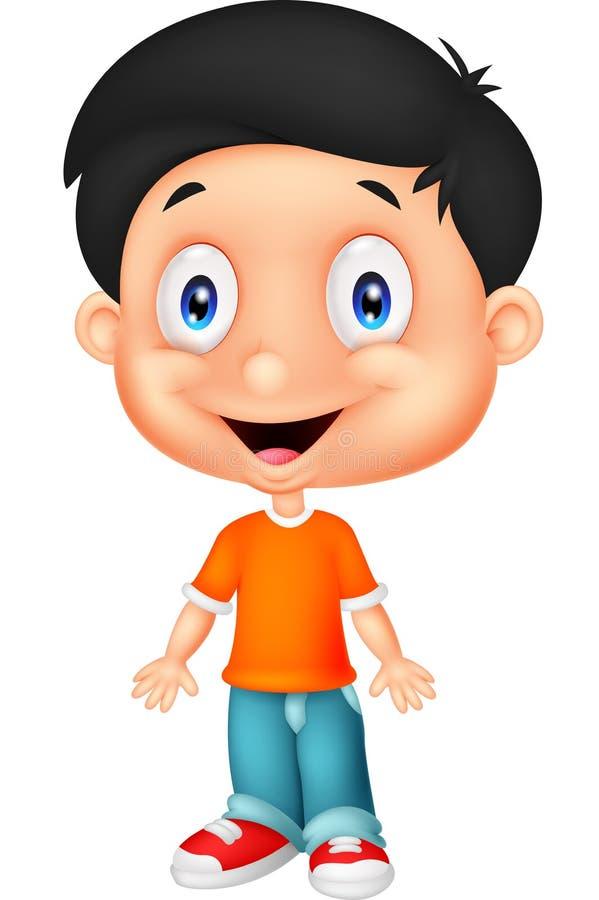 Cute boy cartoon posing stock illustration