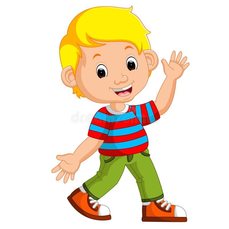 Cute boy cartoon posing vector illustration